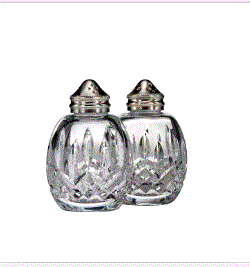 Waterford Lismore Round Salt & Pepper Set (1 Available) - Engagement Boston