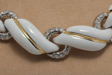 Load image into Gallery viewer, White Enamel & Diamond Necklace by David Webb - Jewelry Designers Boston