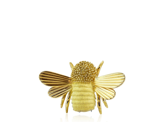 Yellow Gold Estate Bee Pin - JEWELRY Boston