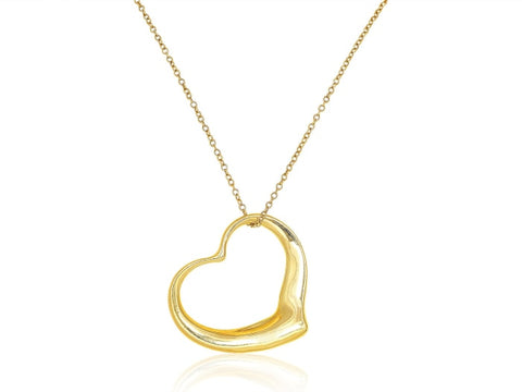 Yellow Gold Heart Pendant - Jewelry Boston