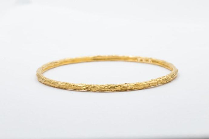 18 Kt Yellow Gold Round Bangle Bracelet - Boston