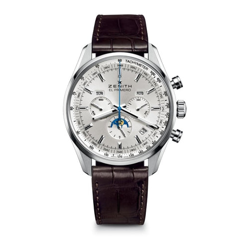 Zenith Chronomaster El Primero 410 Complete Calendar Moonphase 42Mm Stainless Steel (03.2091.410/01.c494) - Watches Boston