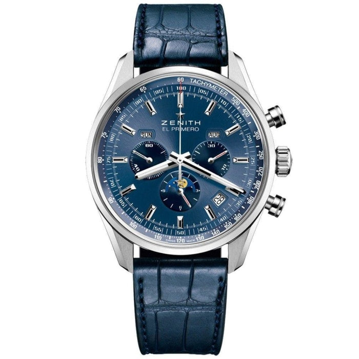 Zenith Chronomaster El Primero 410 Complete Calendar Moonphase 42Mm Stainless Steel (03.2097.410/51.c700) - Watches Boston