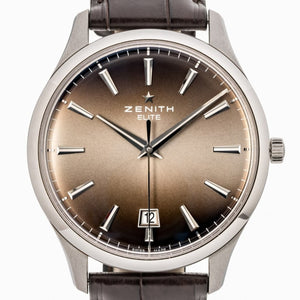 Zenith Elite Captain Central Second Stainless Steel 40Mm (03.2020.670/22.c498) - Watches Boston