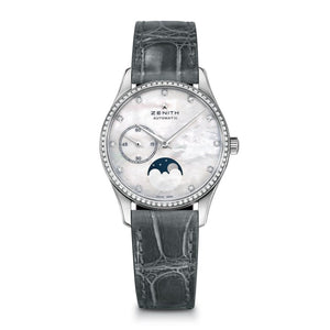 Zenith Elite Ultra Thin Lady Moonphase 33Mm Stainless Steel (16.2310.692/81.c706) - Watches Boston
