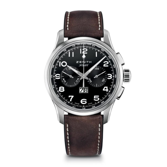 Zenith Pilot Big Date Chronograph 42Mm Stainless Steel (03.2410.4010/21.c722) - Watches Boston