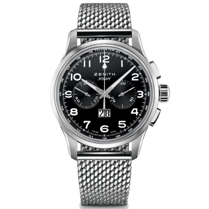 95e4fc7af8f Zenith Pilot Big Date Chronograph 42mm Stainless Steel (03.2410.4010  21.M2410)