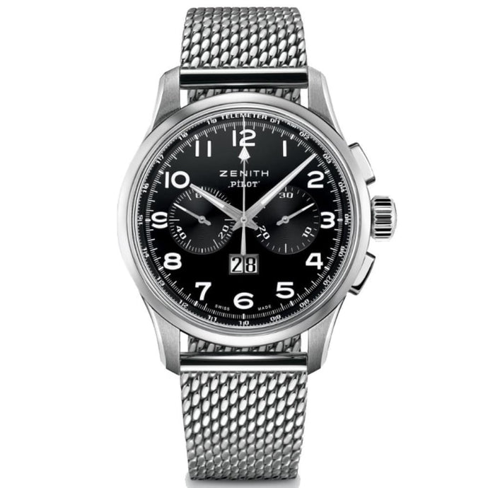 Zenith Pilot Big Date Chronograph 42Mm Stainless Steel (03.2410.4010/21.m2410) - Watches Boston
