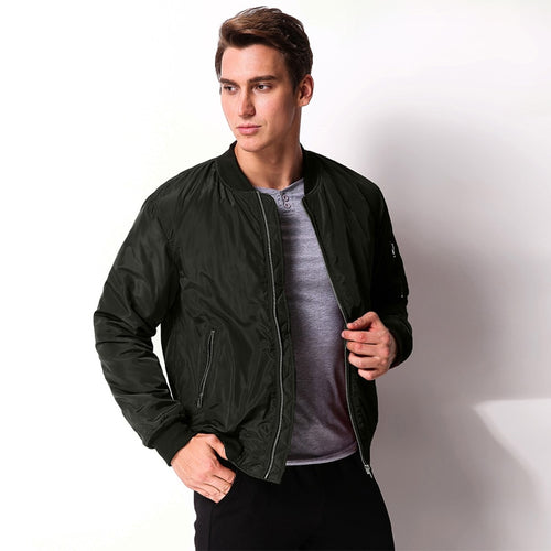 New Fashion Mens Winter Fall Long Sleeve Zipper Slim Biker Motorcycle Coat Outwear Classic Bomber Jacket