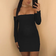 Load image into Gallery viewer, Maternity Off The Shoulder Cross Backless Bodycon Dress