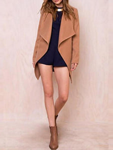 Women's Warm Woolen Coat Outwear