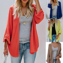 Load image into Gallery viewer, Plain Loose Knit Cardigans