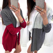 Load image into Gallery viewer, Mid-Length Women's Color Block Cardigan