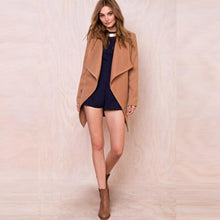 Load image into Gallery viewer, Women's Warm Woolen Coat Outwear
