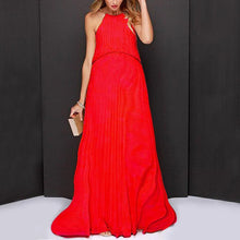 Load image into Gallery viewer, Maternity Solid Color Round Collar Sleeveless Maxi Dress