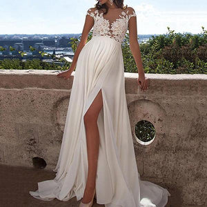 Maternity Sexy Lace Split Photoshoot Gowns