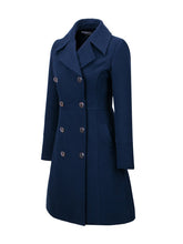 Load image into Gallery viewer, Lapel  Double Breasted  Plain Woolen Coats