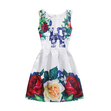 Load image into Gallery viewer, Mom Girl Letters Flowers Vintage Sleeveless Dress