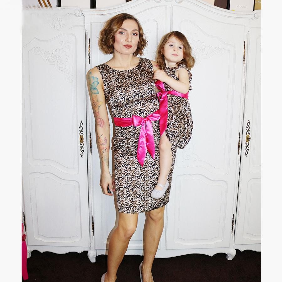 Mom Girl Leopard Print Dress