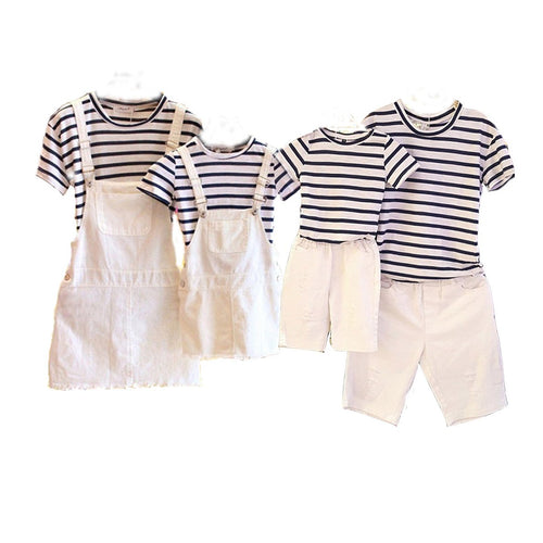 Stripe Family Summer Two Pieces Set