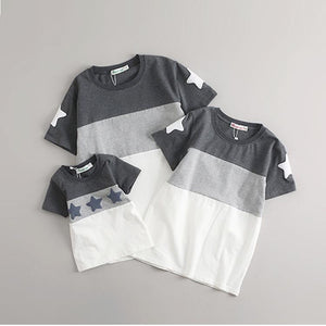 Star Prints Patchwork Family Tops