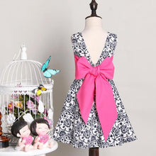 Load image into Gallery viewer, Mom Girls Vintage Bokwnot Summer Dress