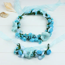 Load image into Gallery viewer, Mom Girl Flowers Hairband By Pair