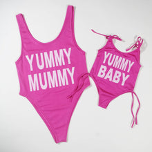 Load image into Gallery viewer, Mom Girl Yummy Swimming Romper