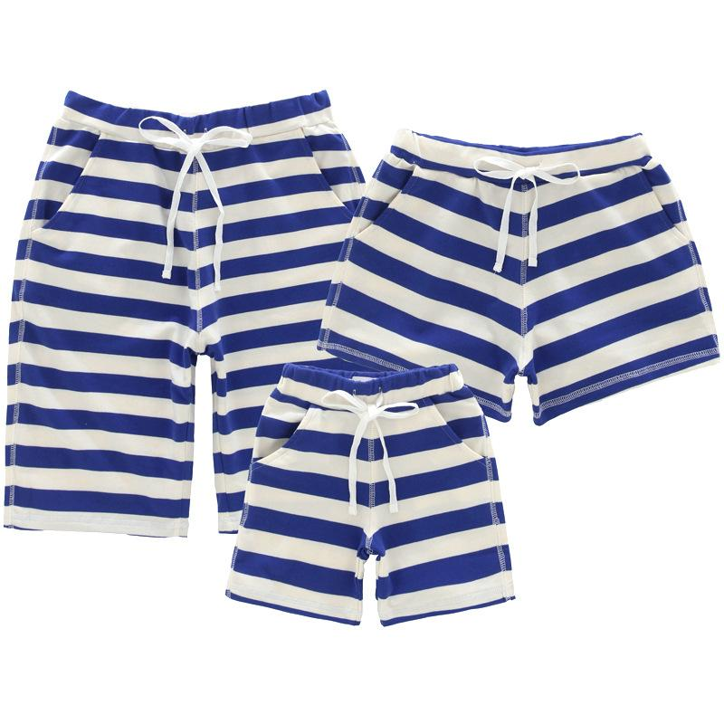 Daddy Mommy Kids Stripe Summer Shorts