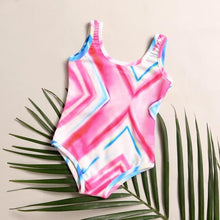 Load image into Gallery viewer, Mom Girl Stripes Swimming Suit