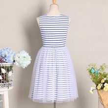 Load image into Gallery viewer, Mom Girl Stripes Tulle Dress