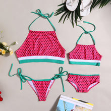 Load image into Gallery viewer, Mom Girl Watermelon Style Swimming Suit