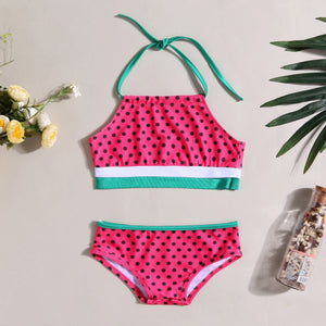 Mom Girl Watermelon Style Swimming Suit