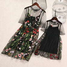 Load image into Gallery viewer, Mom Girl Embroidered Flowers Dress Set