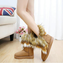 Load image into Gallery viewer, Warm Lug Sole Fur Snow Boots