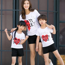 Load image into Gallery viewer, Heart Letters Pattern Pullover Family T-Shirt