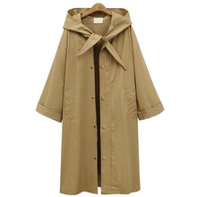 Load image into Gallery viewer, Fashion Long Section Solid Color Windbreaker Coat Outwear