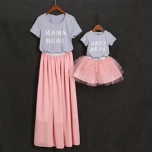 Load image into Gallery viewer, Mom Girl Letters Pattern Color Block Matching Outfits