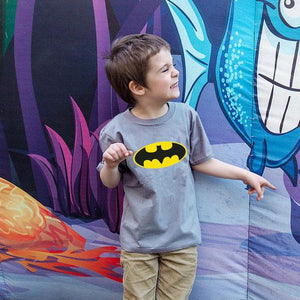 Batman Pattern Round Neck Family T-Shirt