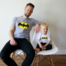 Load image into Gallery viewer, Batman Pattern Round Neck Family T-Shirt