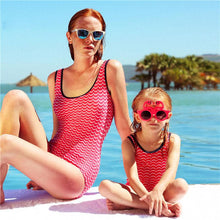 Load image into Gallery viewer, Mom Girl One Piece Backless Matching Swimsuit