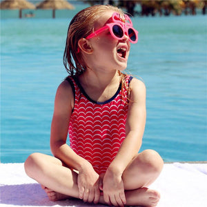 Mom Girl One Piece Backless Matching Swimsuit