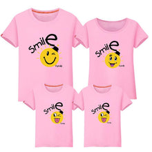 Load image into Gallery viewer, Cartoon Smile Face Letters Pattern Family T-Shirt