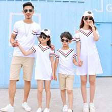 Load image into Gallery viewer, Stripes Color Block Family Outfits