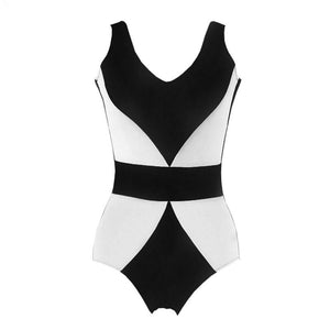 Mom Girl Color Block Backless Matching Swimwear