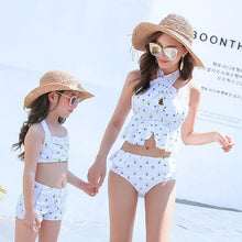 Load image into Gallery viewer, Mom Girl Pineapple Prints Halter Matching Swimsuit