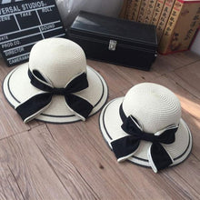 Load image into Gallery viewer, Mom Girl Bowknot Decorated Matching Caps