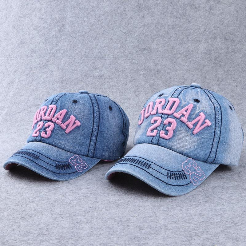 Mom Girl Denim Letters Number Pattern Matching Hat