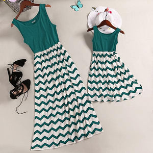 Mom Girl Strips Matching Cami Dress