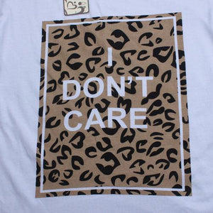 Leopard Grain Prints Letters Pattern Family T-Shirt